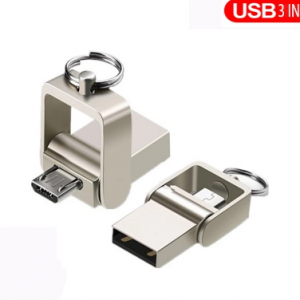 OTG 3 IN 1 pen drive 32GB Micro usb 2.0 memory stick 64GB pendrive 16GB usb flash pen metal For Type-C usb Key flash drive discountshub