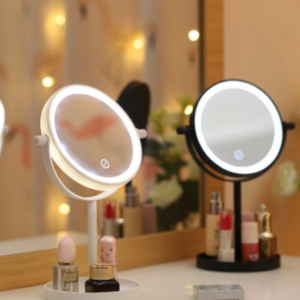 Portable 360° Rotaty 14 LED Light Makeup Mirrors Non-slip Touch Screen Vanity Table Lamp discountshub