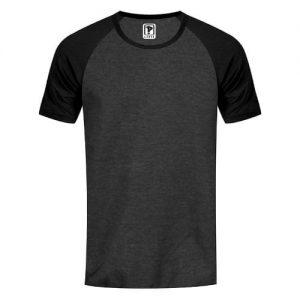 Priddi Raglan Tshirt - Dark Grey & Black discountshub