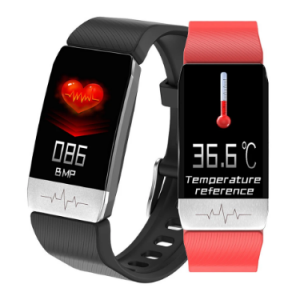 Thermometer ECG Monitor Heart Rate Blood Pressure SpO2 Monitor Health Care GPS Run Route Track Smart Watch discountshub