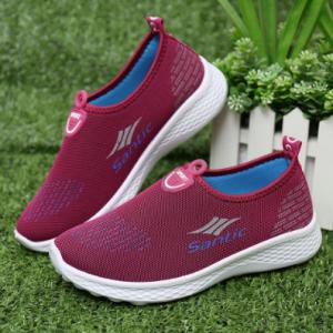Women Heart Pattern Decoration Mesh Non Slip Comfy Sneakers discountshub