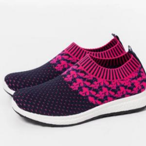 Women Outdoor Running Breathable Mesh Slip On Flat Sneakers discountshub
