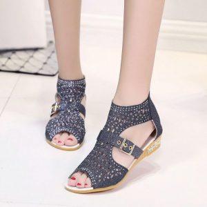 Women Sandals /Toe Ankle Boots Sandal Woman / Fashion Sandals / Summer Shoes /Sandals/Black discountshub
