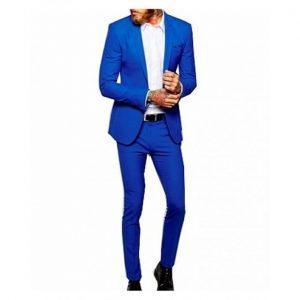Men's Smart Suit- Royal Blue / Plus 1 Free Quality Tie discountshub