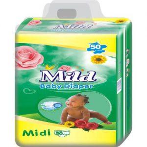Mild Baby Diaper - Size 3 - Midi - 50 Count discountshub
