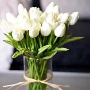 10PCS Tulip Artificial Flower Real Touch Artificial Bouquet Fake Flower for Wedding Decoration Flowers Home Garen Decor discountshub
