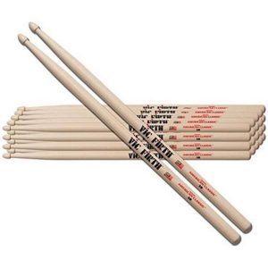 Vic Firth 5a American Classic Hickory Wood Tip Drum Sticks - 12 Pairs discountshub