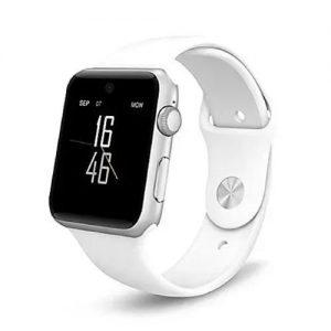 A1 Smartwatch With Bluetooth- Sim & Memory Card Slot + Camera - White discountshub