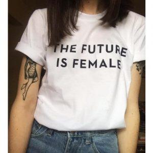 Wanna Future Is Female T-shirt - White discountshub