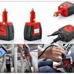 150w Car Power Inverter - 12v Dc To 220v Ac + 5v Usb Port discountshub