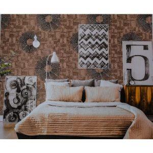 Black Rings In Brown Modern Wallpaper discountshub