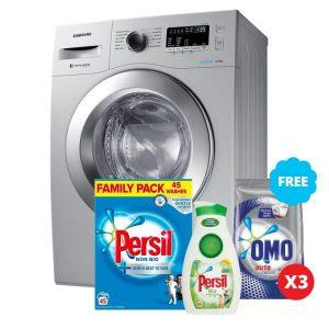 Samsung Rgc_washing Machine Front Load 6kg - Ww60j3280hs/nq + Free 3 Omo,persil Detergent & Bleach. discountshub