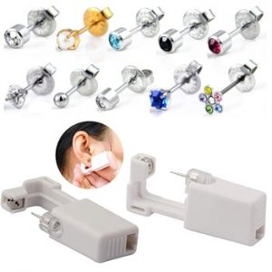 1PC Disposable Sterile Ear Piercing Unit Cartilage Tragus Helix Piercing Gun NO PAIN Piercer Tool Machine Kit Stud Choose Design discountshub