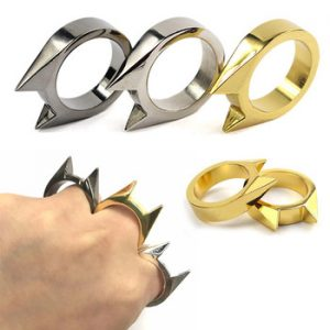 1Pcs Self-Defense Ring Women Portable Finger Weapons Safety Survival Anti-wolf Ring Finger Defense Tool Unisex Protect Outdoor discountshub