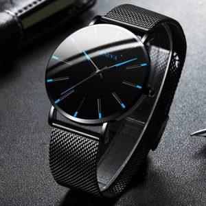 2020 Minimalist Men's Fashion Ultra Thin Watches Simple Men Business Stainless Steel Mesh Belt Quartz Watch Relogio Masculino discountshub
