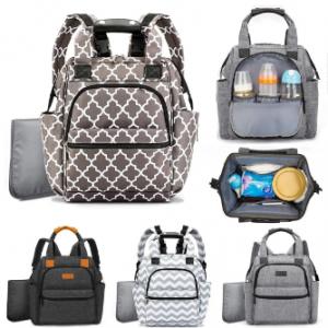 24L Waterproof Mum Backpack Camping Travel Multifunctional Bag Diaper Bags Maternity Baby Care Bag discountshub
