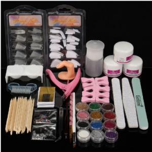 Acrylic Powder Glitter Nail Art Tools Kit Nails Brush False Finger Pump Set discountshub