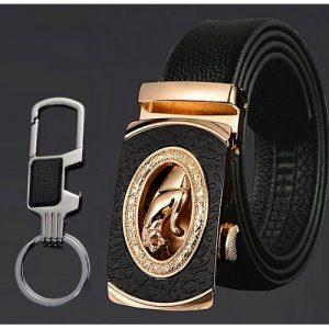 Automatic Buckle Belt -Gold/Black discountshub