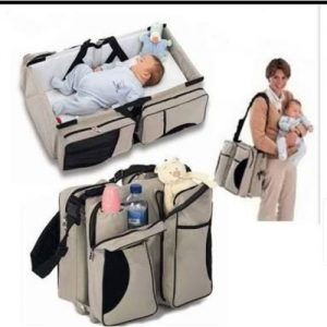 Baby Diaper Bag And Travel Cot - Mother Care discountshub
