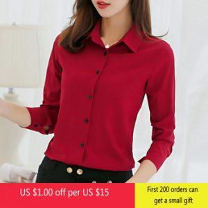 Brand Blusas Mujer De Mod Tops Long Sleeve Lapel White Blouse Office Ladies Work Blouses Fashion Clothing Blusas Womens Shirts discountshub