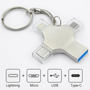 Bru Usb Flash Drive Otg Pen Drive 3.0 Type-c For Iphone ipad Android Smart Phone Tablet PC 16g 32g 64g 128g 256gb Pendrive 4in1 discountshub