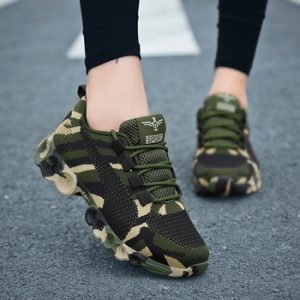Camouflage Fashion Sneakers Women Fly Knit Breathable Casual Shoes Men Army Green Trainers Plus Size 35-44 Lover Shoes NX018 discountshub