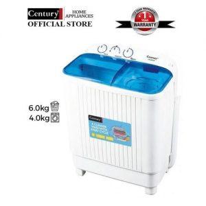 Century 6kg Twin Tub Washing Machine - CW8522-B.- White discountshub