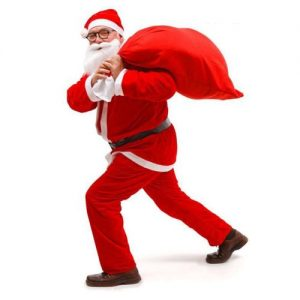 Christmas Santa Claus Costume With Hat, Beard, Belt, Boots discountshub