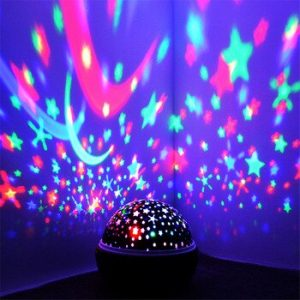 Coversage Rotating Night Light Projector Spin Starry Sky Star Master Children Kids Baby Sleep Romantic Led USB Lamp Projection discountshub