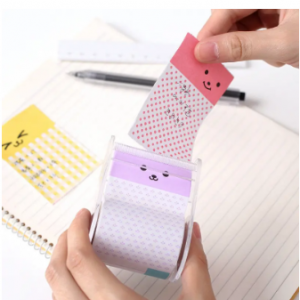 Creative Sticky Notes Roller Shape Tearable Self-Stick Memo Pads Office School Staionary Supplies discountshub