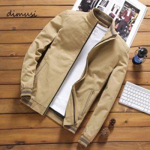 DIMUSI Spring Autumn Men's Bomber Jackets Casual Male Outwear Windbreaker Stand Collar Jacket Mens Baseball Slim Coats 5XL,YA810 discountshub