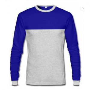 Danami Long Sleeve T-Shirt- Royal Blue & Grey discountshub