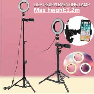 Dimmable LED Studio Camera Ring Light Makeup Photo Phone Video Lamp Selfie Stand USB Plug Tripod lamp Light with Phone Holder for Makeup Youtube discountshub