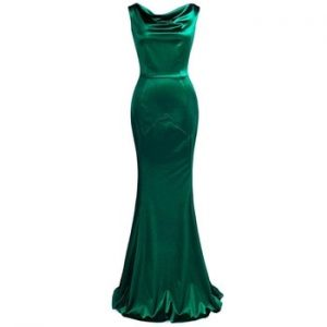 Elastic Mermaid Long Evening Dresses Charming And Sexy Backless O-neck Formal Dress Fashion Robe de soiree XUCTHHC Party Gown discountshub