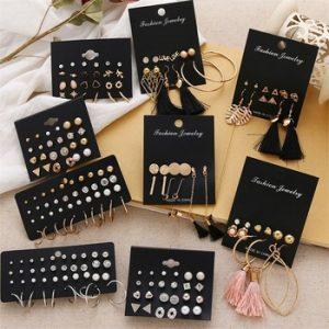 FNIO Women's Earrings Set Pearl Earrings For Women Bohemian Fashion Jewelry 2020 Geometric Crystal Heart Stud Earrings discountshub