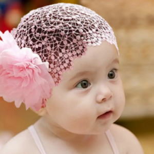Flower Patchwork Lace Girls Hair Accessories For 0-3 Years discountshub