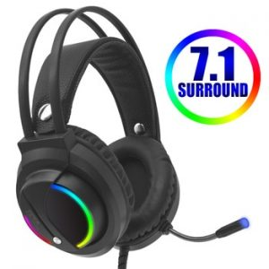 Gaming Headset Gamer 7.1 Surround Sound USB 3.5mm Wired RGB Light Game Headphones with Microphone for Tablet PC Xbox One PS4 discountshub