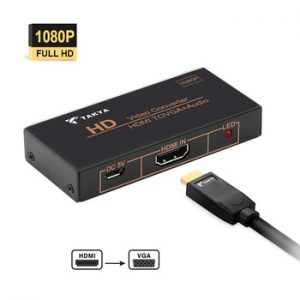HDMI to VGA Converter Audio HDTV/Monitor / Projector Support up to 1080P Signal Convert Through Audio 3.5mm Jack Adapter discountshub