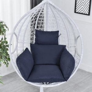 Hanging Hammock Chair Swinging Garden Outdoor Soft Seat Cushion Seat 220KG Dormitory Bedroom Hanging Chair Back with Pillow 40a discountshub