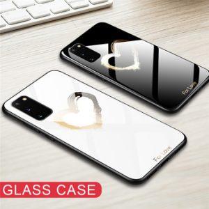 Hard Back Tempered Glass Case For Samsung Galaxy S20 Ultra S10 S8 S9 Plus S10E A10 A50 A51 A70 Note 10 Plus 9 Silicone TPU cases discountshub