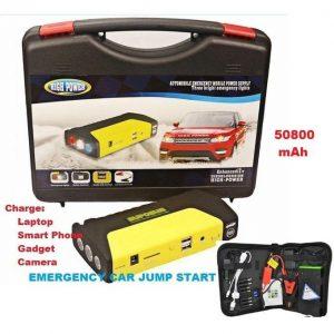 High Power High Power 50800mAh Car Jump Starter With Tyre Inflator discountshub
