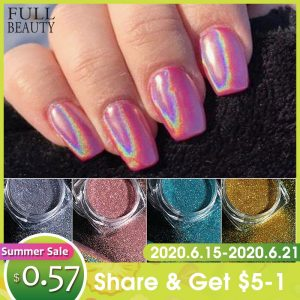 Holographic Powder on Nails Laser Silver Glitter Chrome Nail Powder DIP Shimmer Gel Polish Flakes for Manicure Pigment CH1028-3 discountshub