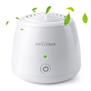 Home Portable Mini Air Purifier USB Cable & Battery Dual Power Air Cleaner Anion Ionizer Negative Ion Generator Ozone Generator discountshub