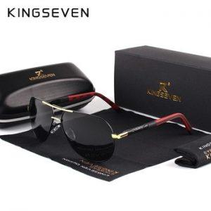 KINGSEVEN Men Vintage Aluminum Polarized Sunglasses Classic Brand Sun glasses Coating Lens Driving Eyewear For Men/Women discountshub
