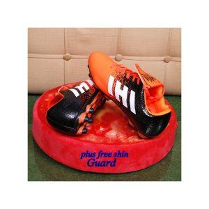 King Men Soccer Boots Football Shoes Orange And Black discountshub
