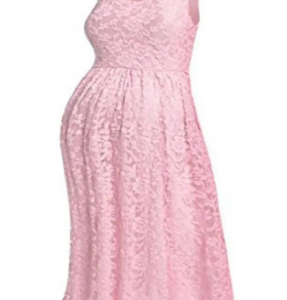 Lace Detail Sleeveless Maternity Dress discountshub