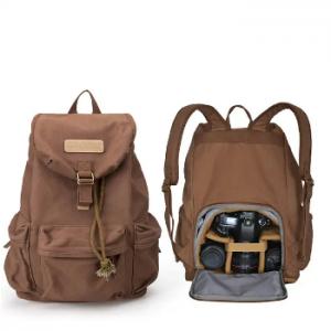 Men Canvas Shoulder Camera Bag Outdoor Backpack Casual SLR Camera Bag discountshub