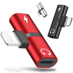 Metal 2 in 1 Splitter Audio Charging Connector for iPhone X 7 8 Plus XR XS 11 Pro Max Music Earphone Jack Adapter Converter Mini discountshub