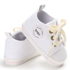 Newborn Baby Shoes 2018 Infant first walkers Tollder Canvas Shoes Lace-up Baby Girls Sneaker Prewalker 0-18M discountshub