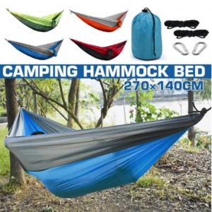 Outdoor Camping Hammock Parachute Cloth 260 * 140 Single Camping Hammock Hammock discountshub
